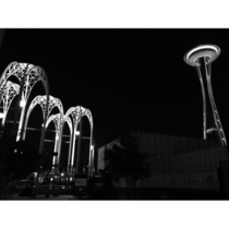 Pacific Science Center and Space Needle Seattle WA