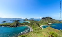 Padar Island Flores Indonesia - Mountain top view