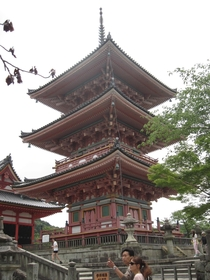 Pagoda of Kyotos Kiyomizu-dera Buddhist temple complex built in