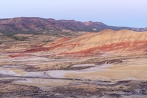 Painted hills OR After a long drive from Portland we just barely made it before the light was gone