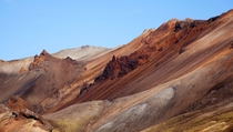 Painted mountains of Landmannalaugar Iceland