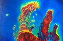Painting I just finished of The Pillars of Creation  x