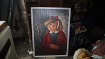Painting of a Crying Girl  Found In an Abandoned House Full of Creepy Dolls