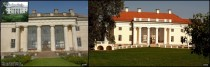 Pakruojis Manor Lithuania before and after restoration works