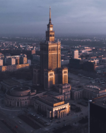 Palace of Culture and Science in Warsaw designed by Lev Rudnev and bulid in s Sometimes called The Eighth Sister or Stalins Dick