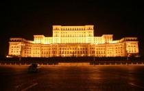 Palace of the Parliament Bucharest Romania Former home of post-war dictator Nicolae Ceauescu designed by Anca Petrescu