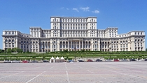 Palace of the Parliament in Bucharest Romania Built from - for  billion euros Designed by  architects under direction of chief architect by Anca Petrescu