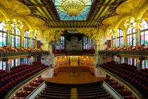 Palau de la Msica Catalana Barcelona Spain A Modernist masterpiece designed by Llus Domnech in Montaner in