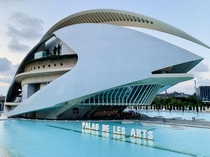 Palau de les Arts Reina Sofia designed by Santiago Calatrava construction began in  and the building opened in