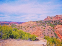 Palo Duro canyon outside of Amarillo Texas  oc Im by no means a photographer