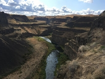 Palouse River Palouse River State Park Washington USA OC