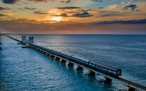 Pamban Bridge connecting the town of Rameswaram to mainland India