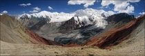 Pamir Mountains near Bordaba Kyrgyzstan  by Anna Grafova