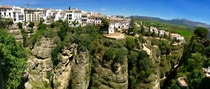 Panaroma of Ronda from the Puente Nuevo