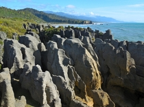 Pancake Rocks on New Zealands west cost  oc