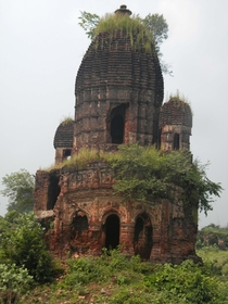Pancharatna Temple at Garh Panchakot Fort Purulia West Bengal India