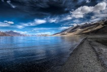 Pangong Tso Lake Overlapping Tibet and India