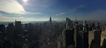 Pano of New York from the top of Rockefeller Center