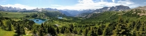 Panorama at the top of Sunshine Village Banff National Park