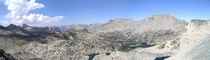 Panorama from  ft on the John Muir Trail - Glenn Pass