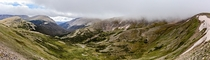 Panorama from one of the highest points in Rocky Mountain National Park Colorado