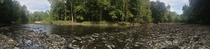 Panorama I took hiking this weekend Beautiful river bed in OH