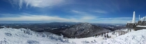 Panorama I took with my phone during a ski trip at Jay Peak VT  more in comments