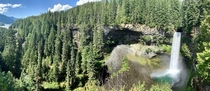 Panorama of Brandywine Falls near Whistler BC