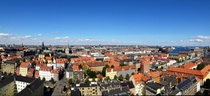 Panorama of Copenhagen Denmark