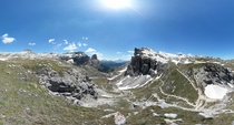 Panorama of Dolomite mountains Italy