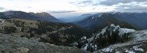 Panorama of Hurricane Ridge in Olympic National Park Washington  x