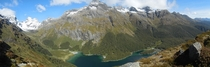 Panorama of Lake Mackenzie just outside Fiordland New Zealand  OC