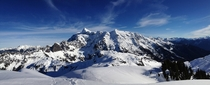 Panorama of Mt Shuksan from Mount Ann WA