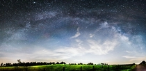 Panorama of our galaxy right outside of Houston TX  x
