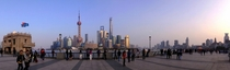 Panorama of Pudong Shanghai China