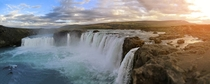 Panorama of the Godafoss Iceland
