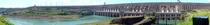 Panorama of the Itaipu hydroelectric dam from Brazilian side