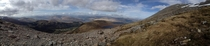 Panorama of the Scottish Highlands Whilst climbing Ben Nevis United Kingdom