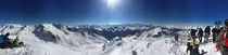 Panorama over Italia from Val Thorens  meters over sea level