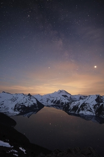 Panorama Ridge with faint Milkyway Canada dyptre