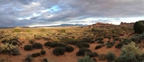 Panorama taken in Arches National Park Utah with my iPhone s