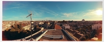 Panorama view from my rooftop Bordeaux France