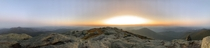 Panoramic Fall sunrise atop New York states high peaks Mt Marcy Lake Placid New York