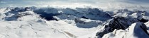 Panoramic I took yesterday from the top of Cirque Peak in the Canadian Rockies