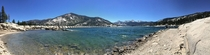 Panoramic of Florence lake Ca off the John Muir Trail