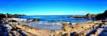 Panoramic of Monterey Bay in California