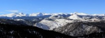 Panoramic of the continental divide in Colorado