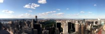 Panoramic of Upper Manhattan from atop Rockefeller Center