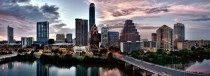 Panoramic photo of downtown Austin TX