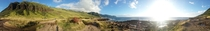 Panoramic photo taken near Kaena Point Oahu Hawaii